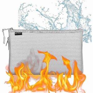 $12.99(原价$25.99)史低价:QLYNUDO 防火防水 贵重物品文件保护袋