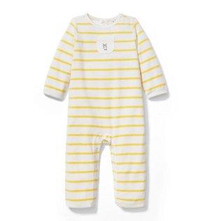 Newborn Sunshine Stripe Striped Velour 1-Piece by Janie and Jack