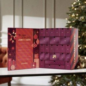 变相1.6折+送2个礼包!仅售£70(价值£414)2021 Lookfantastic 圣诞日历正式上市!=免费送1个月美妆盒子!