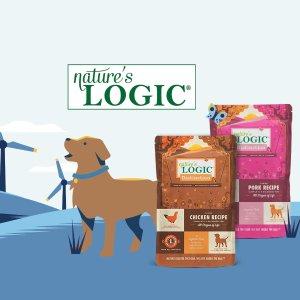免费Nature'sLogic高端纯天然狗粮1磅,不含合成维生素
