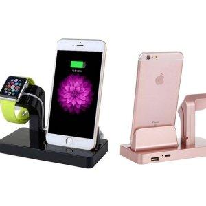 团购价$19Groupon 苹果手机、手表2合1充电器