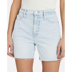 FRAMELe Tour Cut-Off Denim Shorts