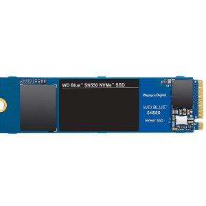 $104.99 超极本适用WD Blue SN550 1TB PCIe3.0 x4 NVMe 固态硬盘