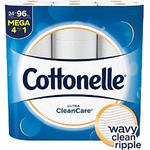Cottonelle买3件立减$10厕纸(24 Mega卷)