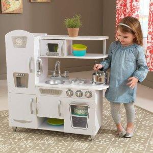 现价$129.99(原价$189.99) 免邮KidKraft 白色厨房玩具套装 细节棒棒哒 宝贝过家家神器
