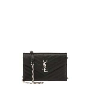 Saint LaurentMonogram YSL Wallet on a Chain, Black