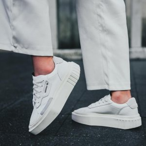 Hypersleek 女款厚底小白鞋