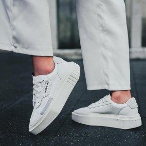 AdidasHypersleek 女款厚底小白鞋
