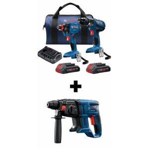 $199 + Free toolBosch Compact Tough Core18V 2-Tool