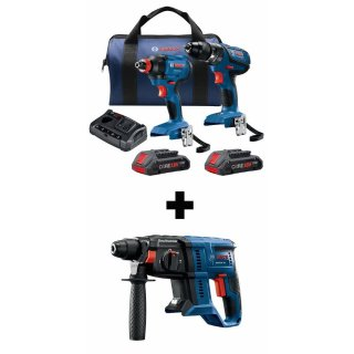 $199 + Free toolBosch Compact Tough Core18V 2-Tool