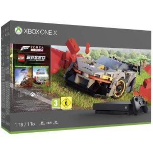 €289 包邮 经典游戏必入Xbox One X 极限竞速 地平线4 乐高同捆1TB硬盘版本