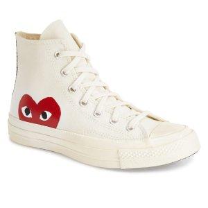 Comme des Garcons PlayGet $30 Notes,Spend$250 Get $60 Notesx Converse Chuck Taylor® Hidden Heart High Top Sneaker