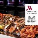 $129 (原价$223)送整瓶葡萄酒Marriott Hotel布里斯班 2人海鲜豪华自助餐
