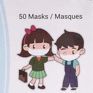 Costco官网售价$22.99MedSup Canada 超可爱儿童口罩50个装/盒  柔软不刺激