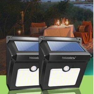 闪购$13.99(原价$24.99)Neloodony 太阳能防水户外超亮感应灯 2个装