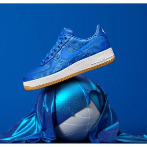 19日美东8点  加入Sneakers Club即可参与Luisaviaroma CLOT X Nike AF1 蓝丝绸