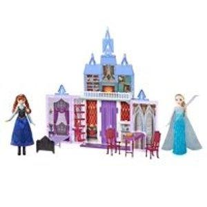 折叠冰雪奇缘城堡,送娃娃