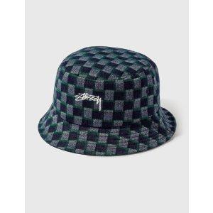 Stussy格纹渔夫帽