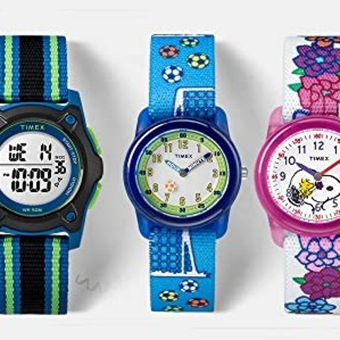 As Low as $14Timex kids' Time Machines Elastic Fabric Strap Watches