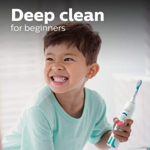 $34.95(原价$44.91) 送贴纸限今天:Philips Sonicare 儿童电动牙刷 刷毛柔软 温和安全