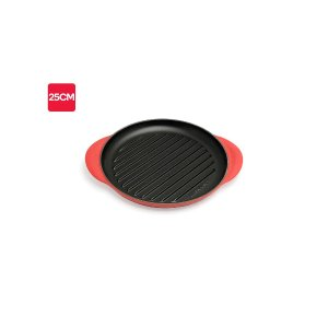 Le CreusetSignature Grill Round Traditional (25cm, Cherry Red) | Frying & Grill Pans |