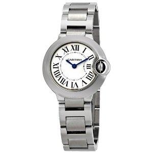 CartierBallon Bleu Silver Dial Stainless Steel Ladies Watch W69010Z4