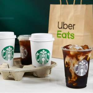 Plus $5 Off 2 OrdersStarbucks Orders via Uber Eats, $0 Delivery Fee