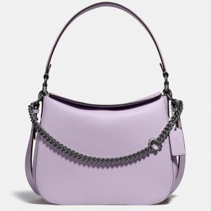 Coach香芋紫链条HOBO
