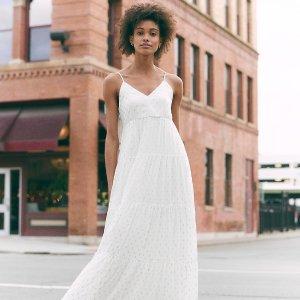 一律$25Express 美裙、连体裤热卖 收优雅缎面吊带裙、气质西装裙