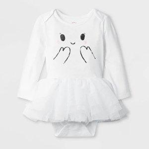Cat & JackBaby Girls' Halloween Ghost Bodysuit