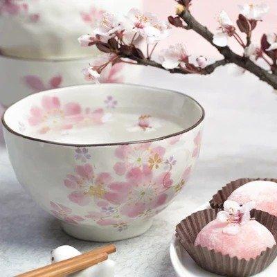 日本美浓烧樱花饭碗