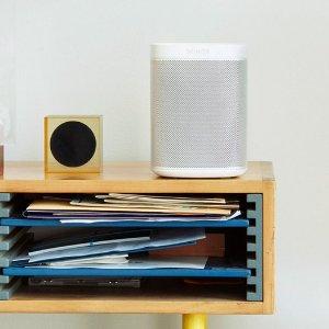 $179起 黑白双色Sonos One 智能音箱 多种配件套装可选