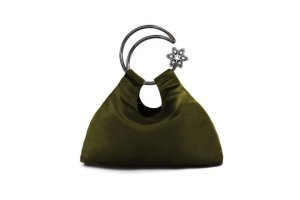 Moon Scooper heavy satin silk bag - Green– Cuixu