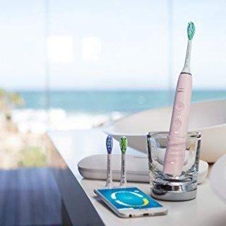 Philips Sonicare DiamondClean Smart Electric, Rechargeable toothbrush for Complete Oral Care – 9300 Series, Pink, HX9903/21 @ Amazon.com