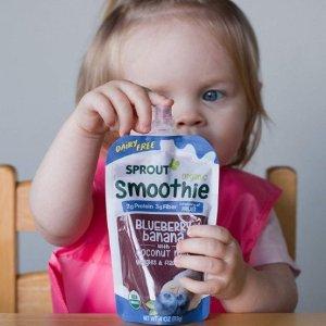 低至6.5折+额外9.5折Sprout 婴幼儿有机辅食,收各种口味果蔬泥