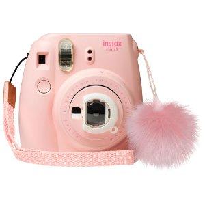 $69.99(原价$89.99) 心动的感觉Fujifilm Instax Mini9 拍立得 多款配色优惠 送可爱小毛球