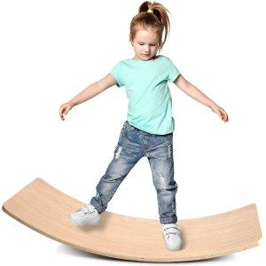 KDB 木质早教感统训练平衡板,不仅仅是玩具