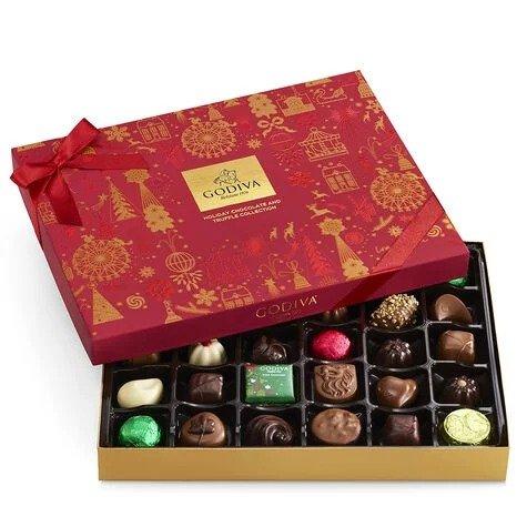 什锦巧克力圣诞套装 32颗