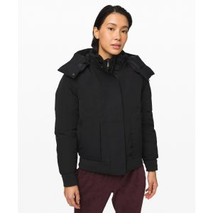 Lululemon防水保暖!短款羽绒外套