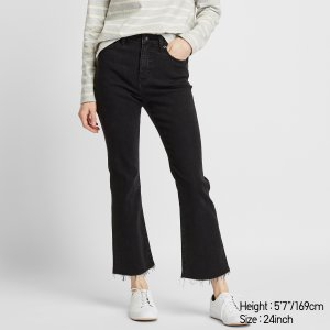 UniqloBuy 2 or more, get $10 offWOMEN HIGH-RISE SKINNY FLARE ANKLE JEANS