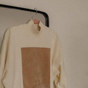 4折起!T恤£50 渔夫帽£78Acne Studios 春夏冰激凌色系 卫衣、T恤、渔夫帽等爆款入