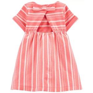 Carter's婴儿条纹小露背连衣裙