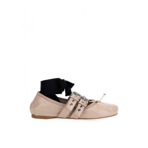 Miu Miu绑带芭蕾舞鞋