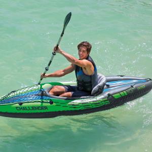 $90(原价$194)Intex Challenger K1 Kayak 单人充气独木舟  周末垂钓泛舟去