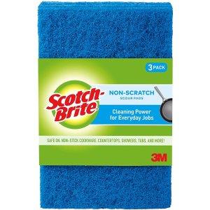 $2.24Scotch-Brite 不粘锅专用百洁布 3片 防刮擦不伤锅具