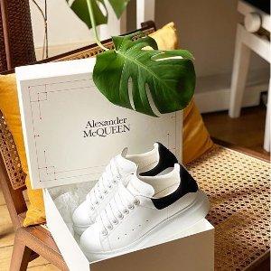 定价优势+免邮 $385起Alexander McQueen 经典小白鞋热卖,变相低至7折