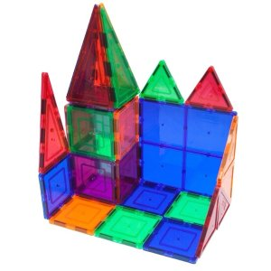 $30.59 2千人给出4.8星超好评PicassoTiles 透明3D磁性建筑玩具60片装