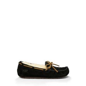 UGG Australia黑色加绒豆豆鞋