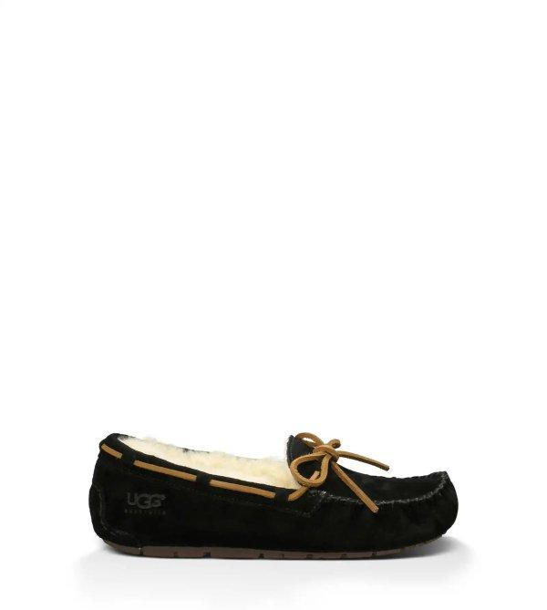 黑色加绒豆豆鞋