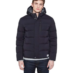 仅€119.99收 全球直邮噢Timberland 男式黑色羽绒棉服 4.8折特卖 get保暖修身的时尚